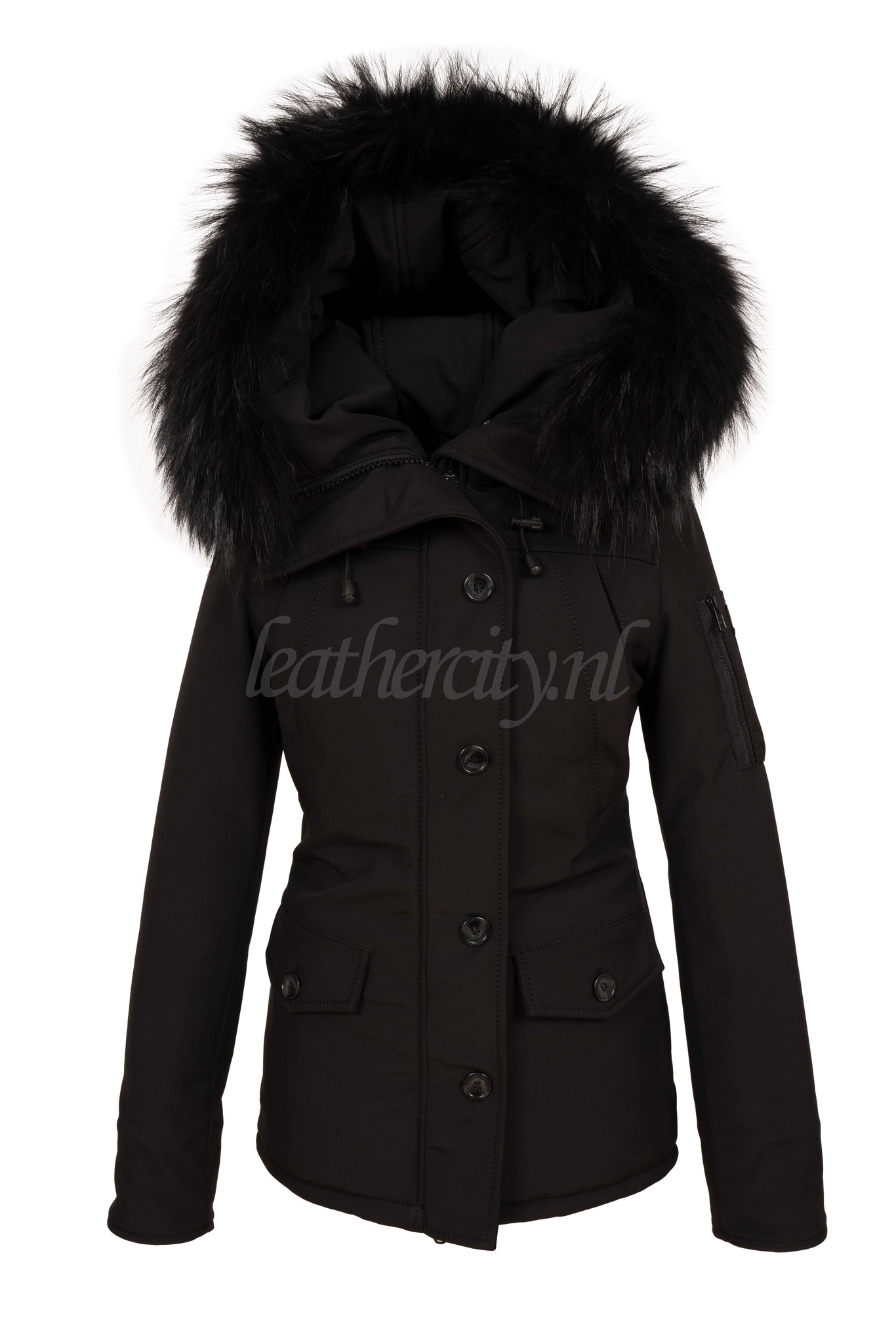 Dames winterjas canada 2 met zwart bont
