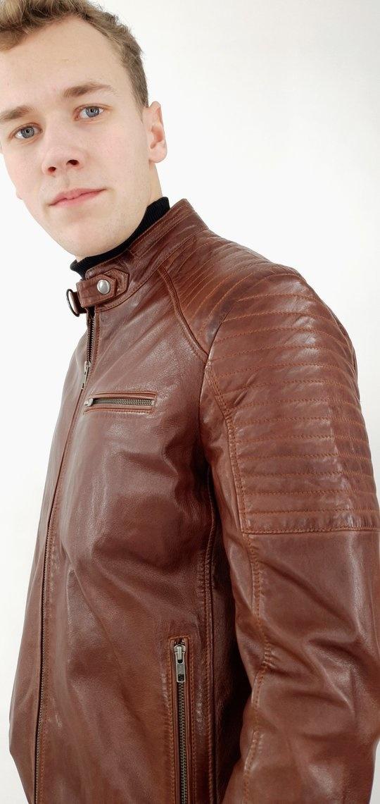 Leren jas heren bruin scot