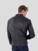 Heren Leren jas zwart scot