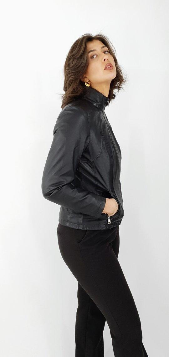 Leren jas dames zwart comfort
