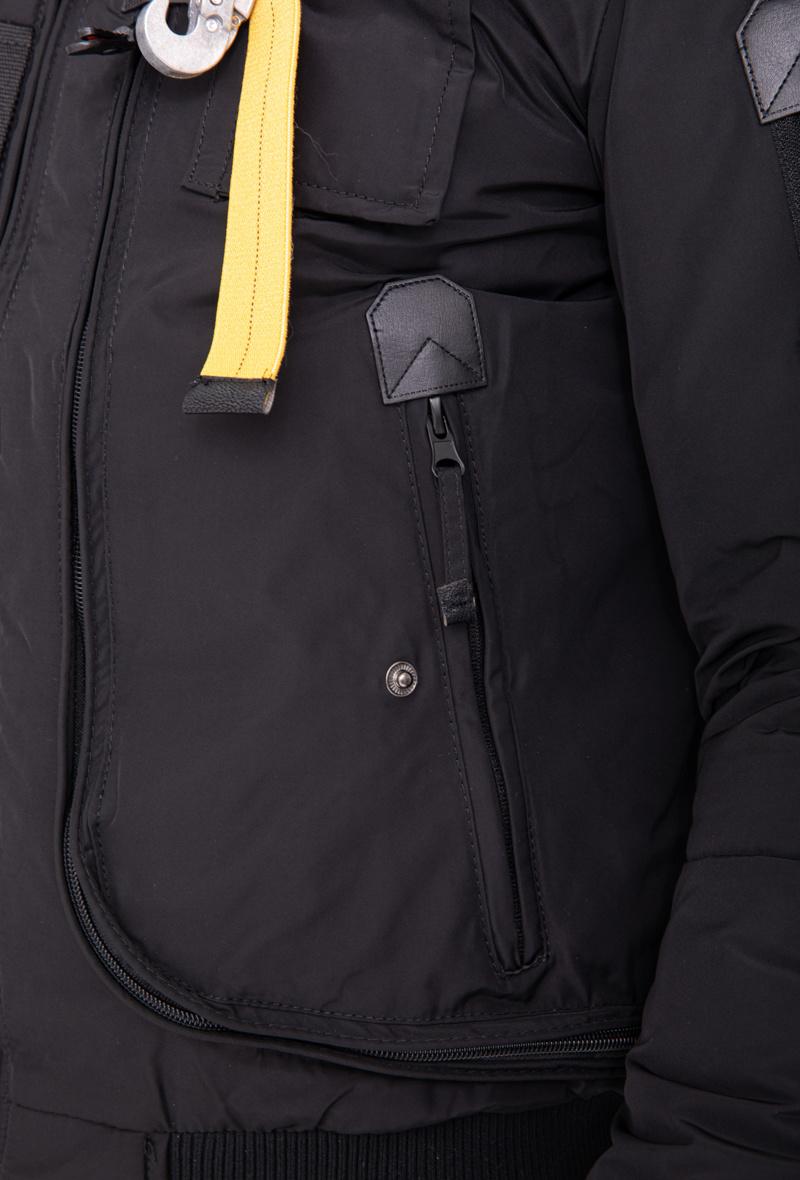 Heren winterjas zwart  met bont lang
