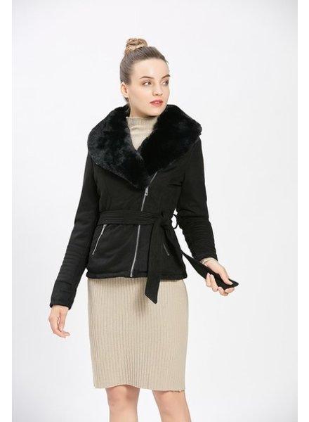 Dames imitatie lammy coat