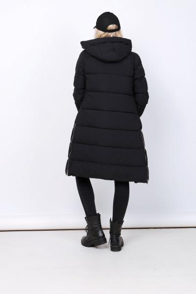 Dames lang winterjas zwart