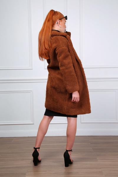 Lulu Dames bontjas fake fur jas