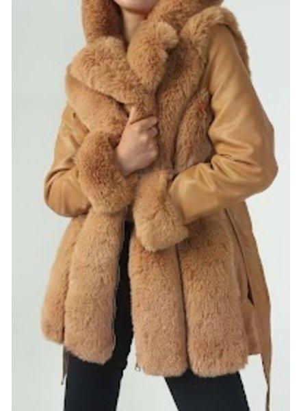 Lammy winterjas dames bruin
