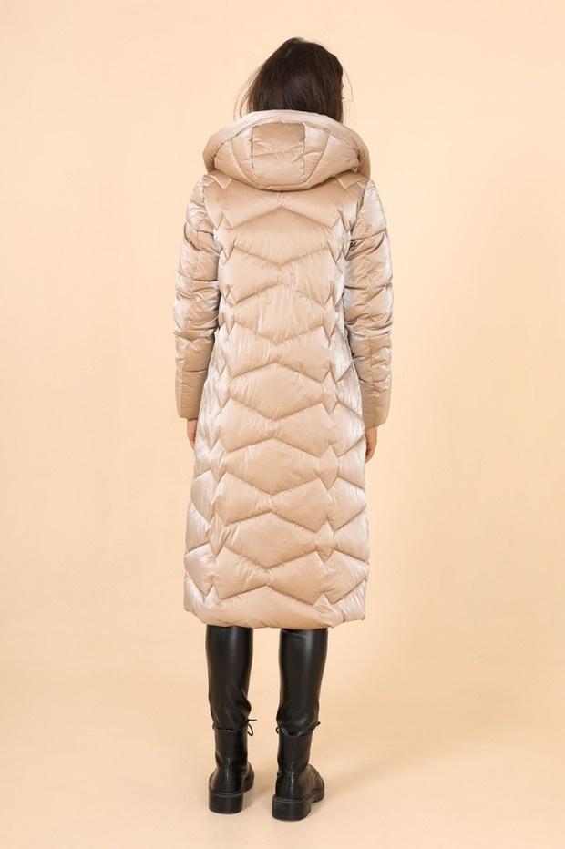Laura Dames lang winterjas beige