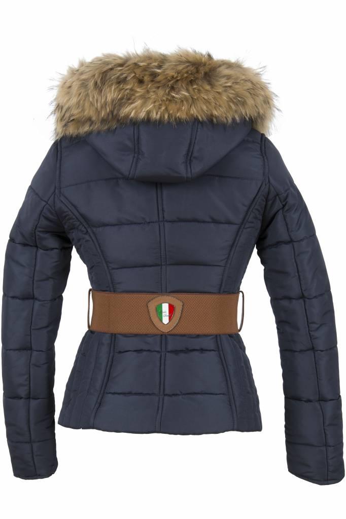 Carlo Sacchi Dames winterjas  009 blauw