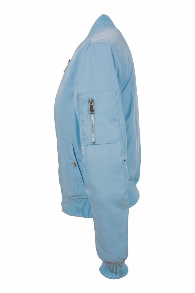 Attentif Dames bomber jacket licht blauw