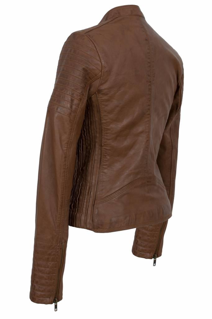 Leren jasje dames bruin 9
