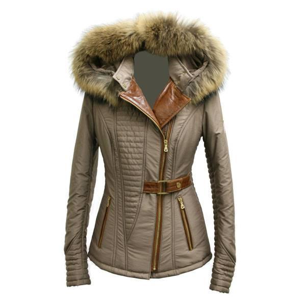 Milan Ferronetti Dames winterjas met Bontkraag Amber licht bruin