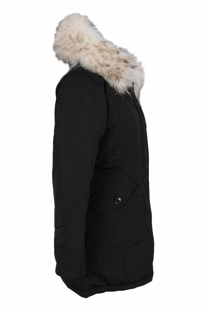 Attentif Dames winterjas met witte bont parka 2