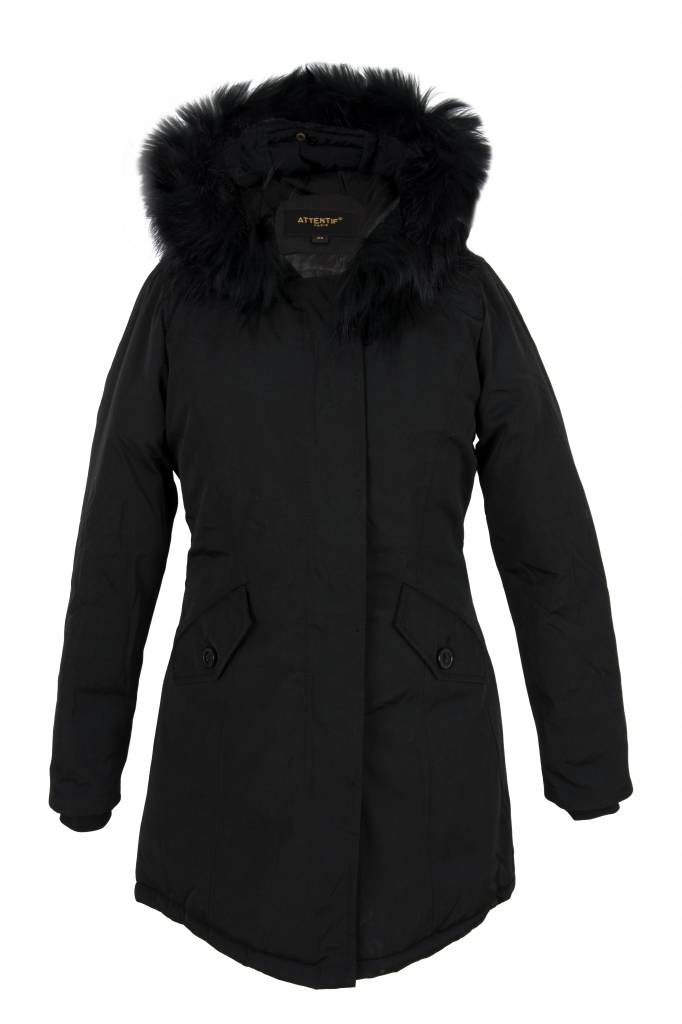 Parka Dames Winterjas.Winterjas Dames Parka Zwart Leather City