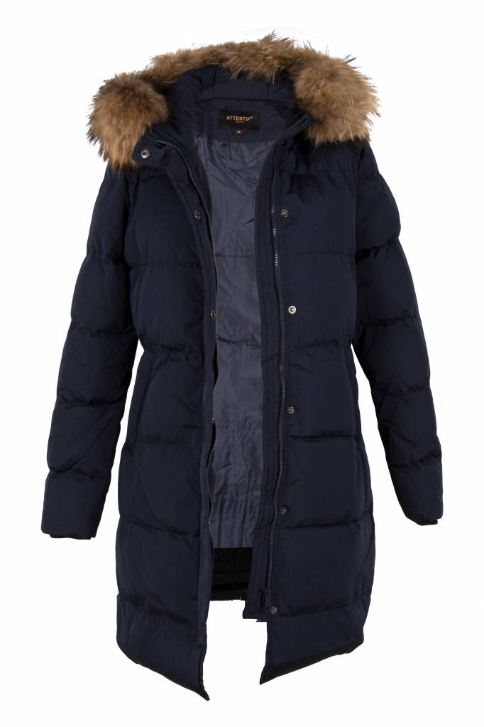 Winterjas Donkerblauw Dames.Winterjas Parka Voor Dames Leather City