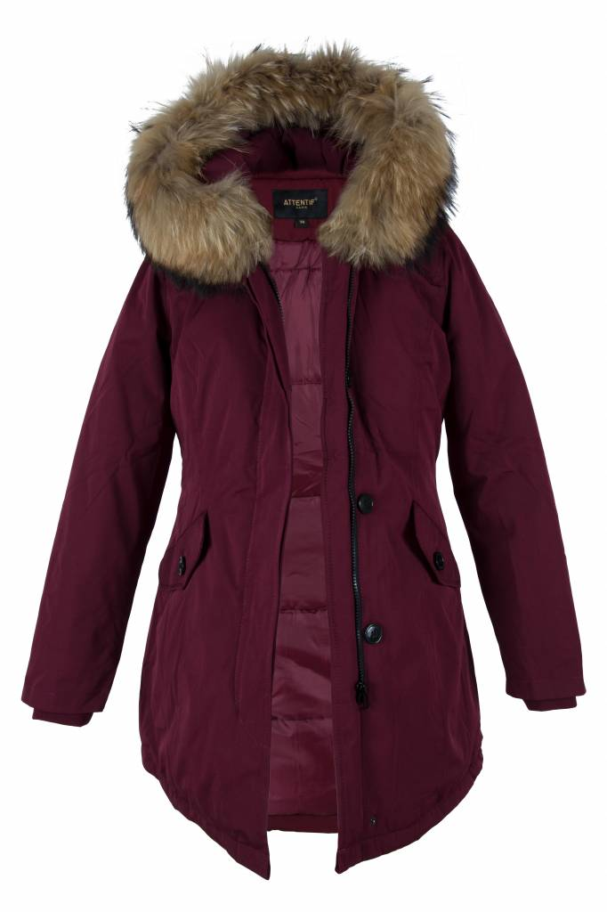 Attentif Winterjas dames parka 2 bordoux