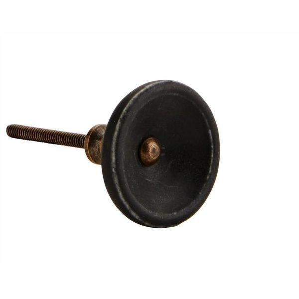 Kastknop Zwart Brass