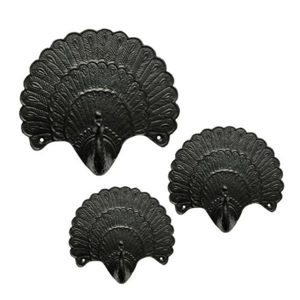 Wandhaak Pauw Zwart