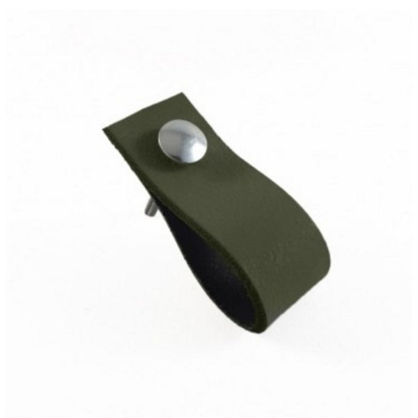 Leren Handgreep Army Green