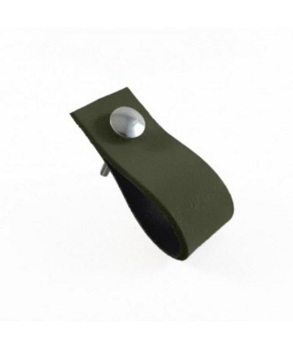 Leren Handgreep Army Green