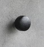 Kastknop Zwart Metaal L