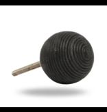 Kastknop Bol Zwart Koord