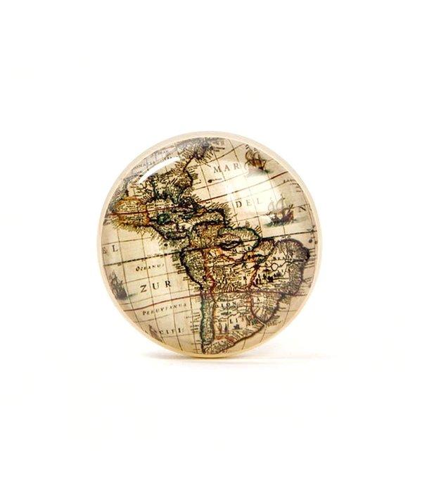 Kastknop Vintage Landkaart
