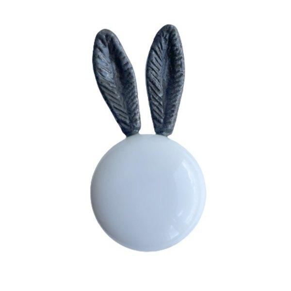 Kastknop Bunny Wit