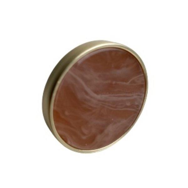 Kastknop Rond Goud Bruin Oranje Ink