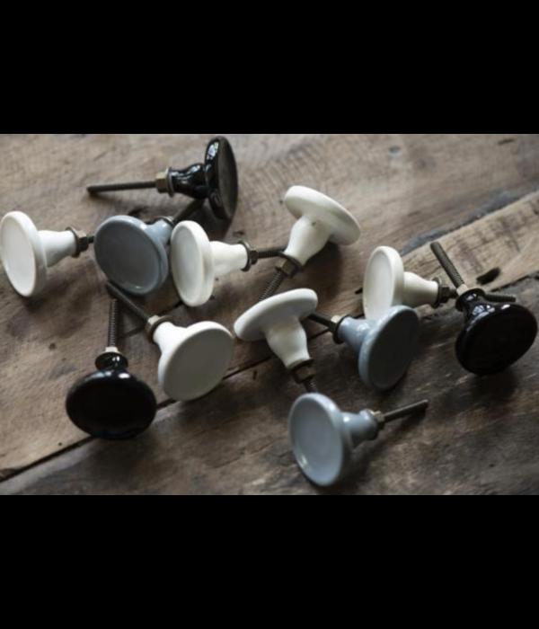 IB Laursen Kastknop Porselein Modern Zwart