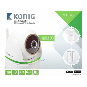 König Full HD Pan-Tilt IP-Camera Binnen 1920x1080 Wit