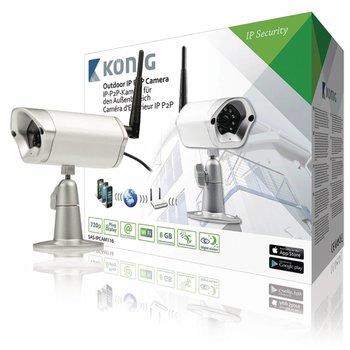 König HD IP-Camera Buiten 720P Metaal