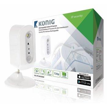 König HD IP-Camera Binnen 720P Oplaadbaar Wit/Zilver