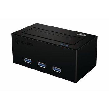 ICY BOX Hardeschijfdocking Zwart