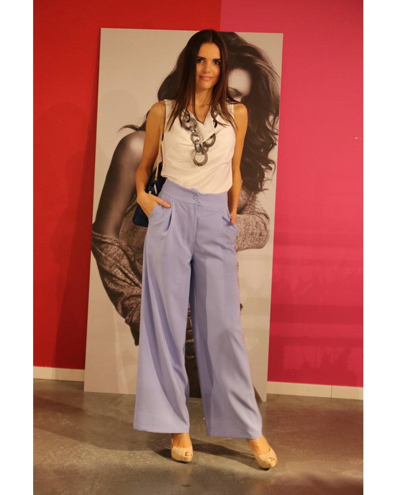 licht blauw broek hoge taille