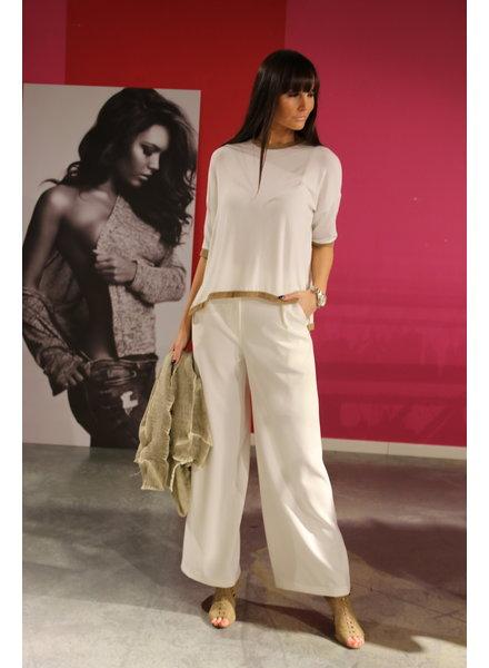 broek wit hoge taille /wijd