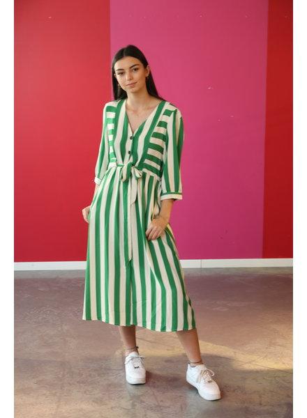 kleed lang met streep groen