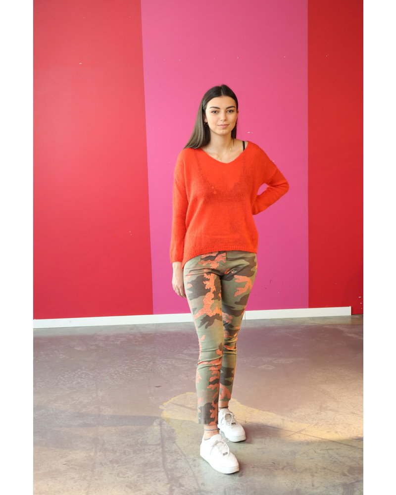 Amélie & Amélie broek met orange camouflage