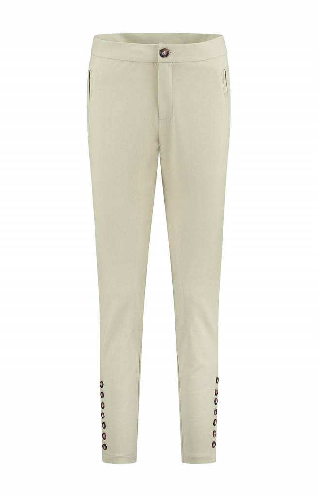 SYLVER Cotton Twill Trousers - Vanille