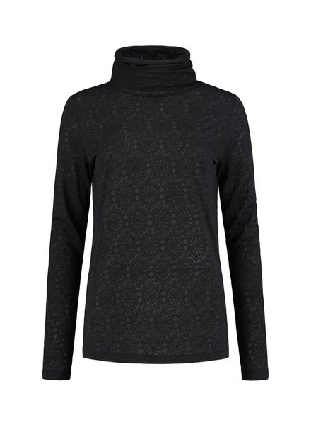 SYLVER Lace Shirt turtleneck - Charcoal