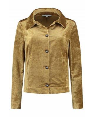 SYLVER Velvet Jacket - Donker Goud