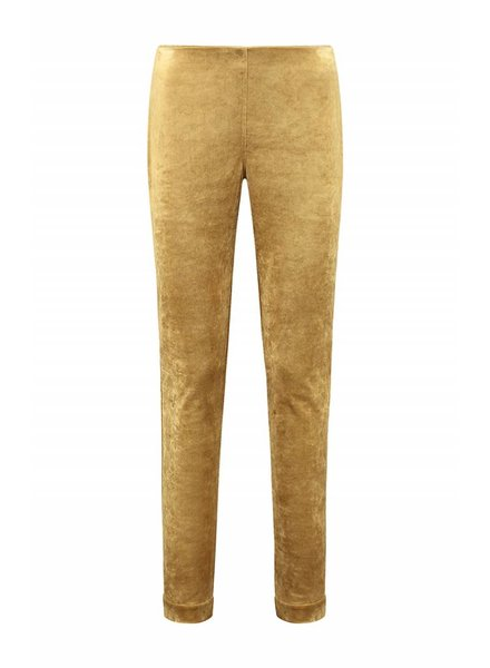SYLVER Velvet Trousers - Dark Gold
