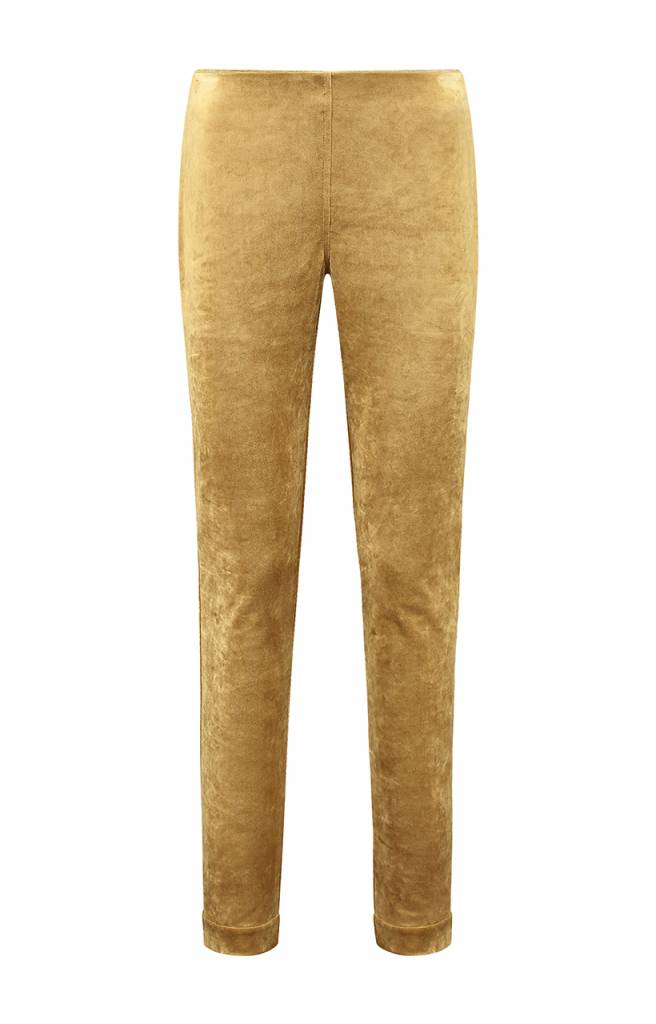 SYLVER Velvet Trousers - Dark Gold