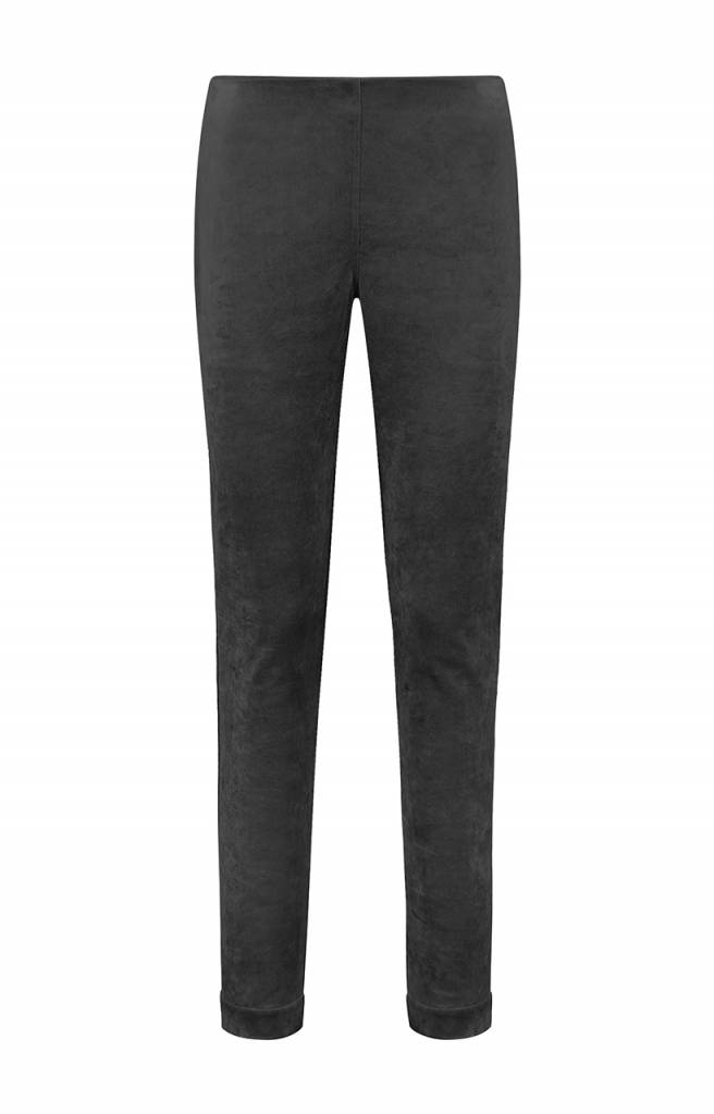 SYLVER Velvet Trousers - Charcoal