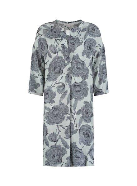 SYLVER Poppy Dress - Licht Grijsblauw