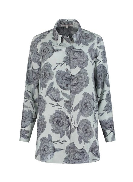 SYLVER Poppy Blouse - Light Smoke