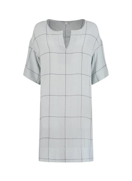 SYLVER Check Dress - Light Smoke