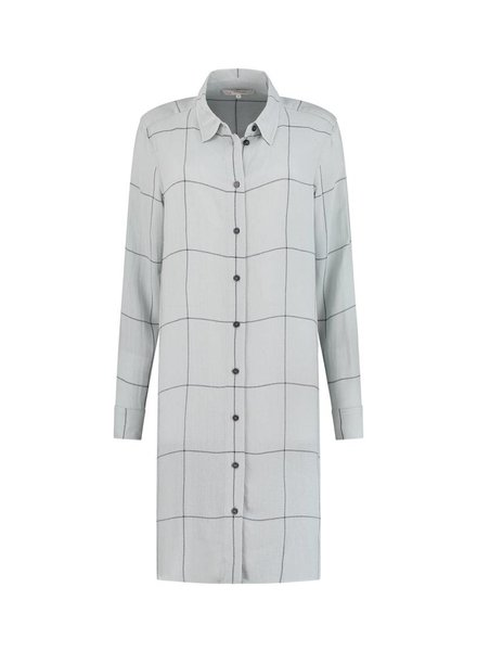 SYLVER Check Blouse - Light Smoke