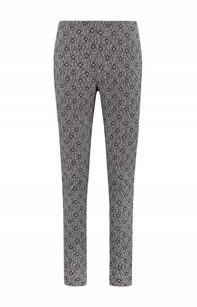 SYLVER Scratch Trousers Straight - Donkerblauw