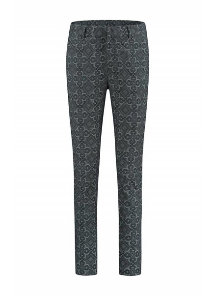 SYLVER Jaquard Trousers - Donkergrijs