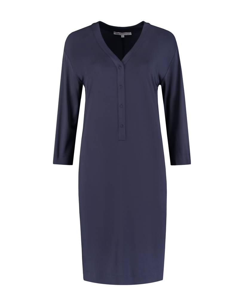 SYLVER Silky Jersey Dress - Indigo