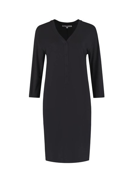 SYLVER Silky Jersey Dress - Donkergrijs